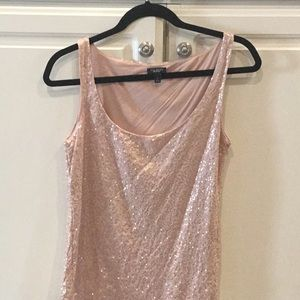 Talbots Blush Sequin Tank